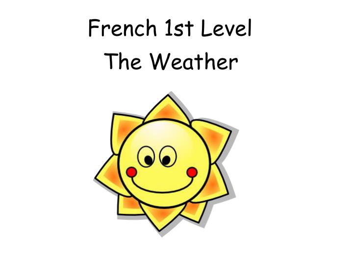 french 1st level n.