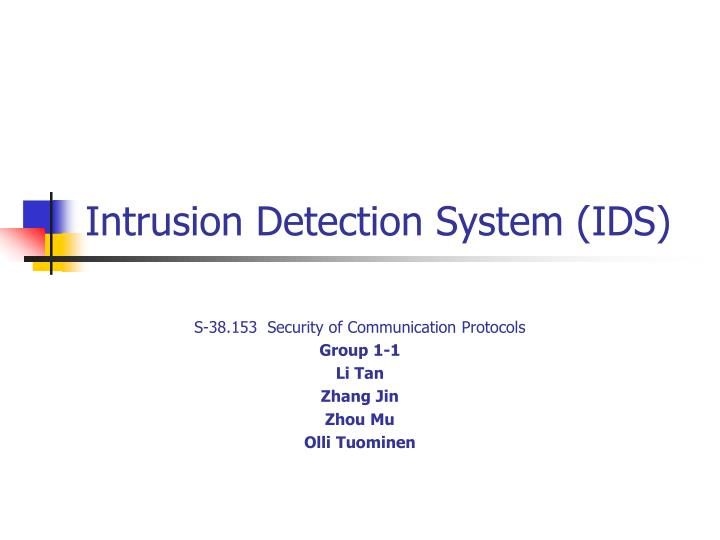 intrusion detection system ids n.
