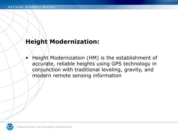 Height Modernization: