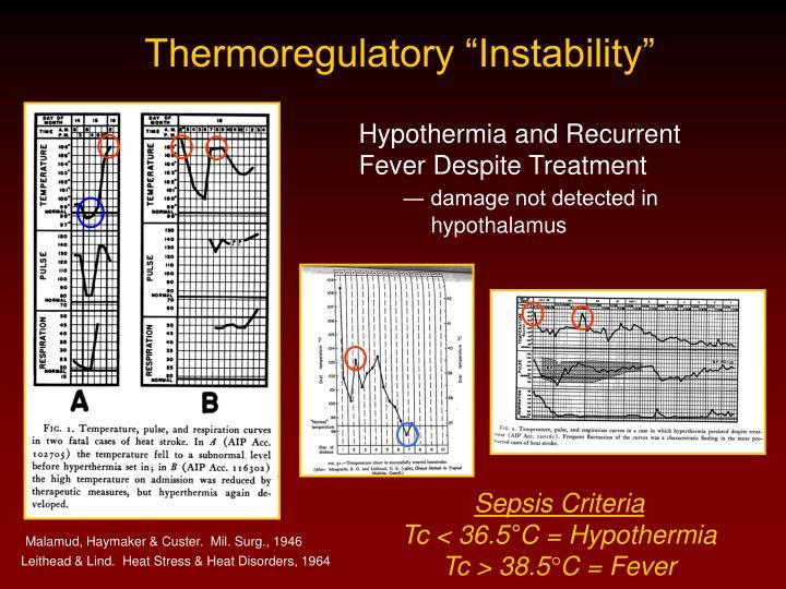 "Thermoregulatory ""Instability"""
