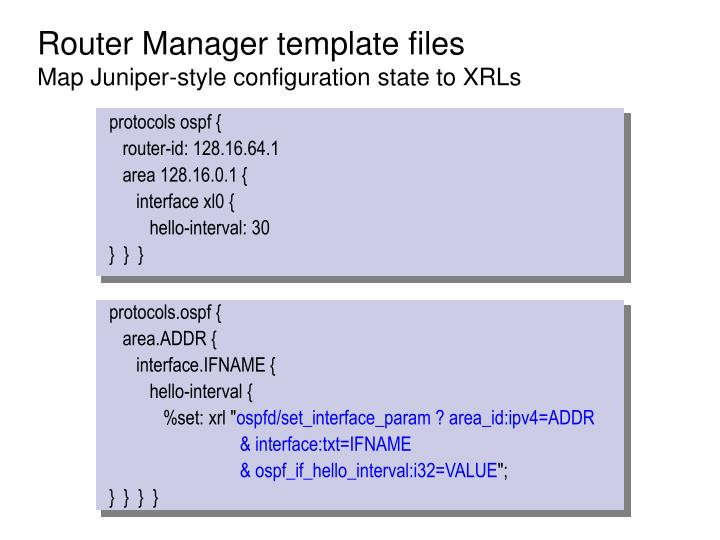 Router Manager template files