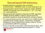 ground based gw astronomy