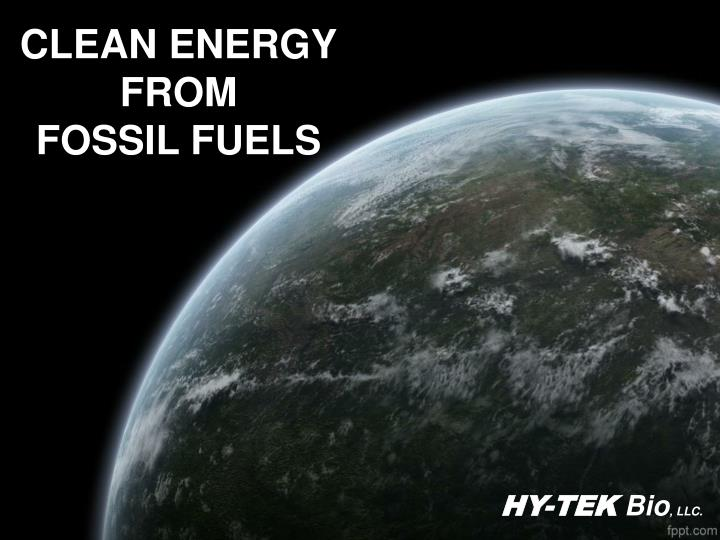 clean energy from fossil fuels n.