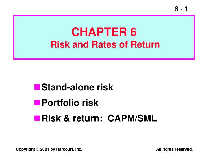 PPT CHAPTER 6 Risk And Rates Of Return PowerPoint
