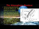 the atmosphere structure