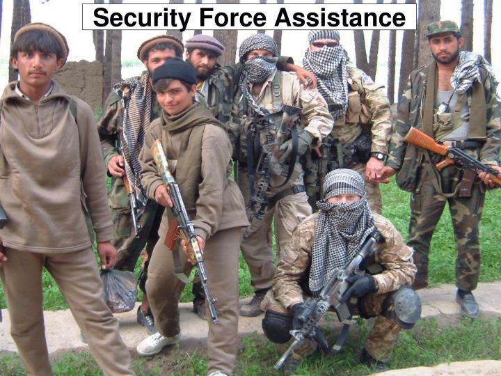 security force assistance n.