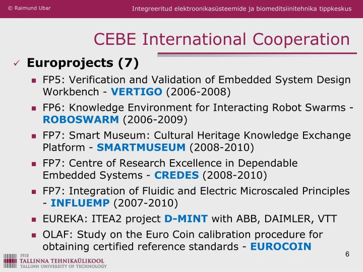 CEBE International Cooperation