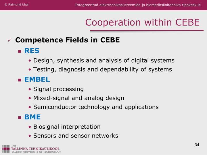 Cooperation within CEBE