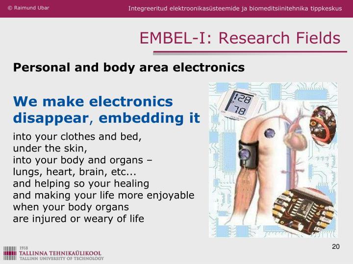 EMBEL-I: Research Fields