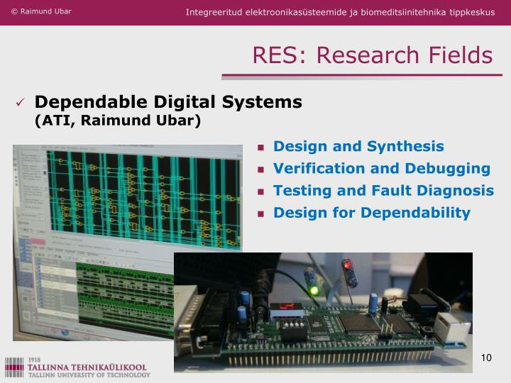 RES: Research Fields