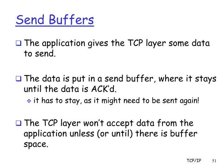 Send Buffers