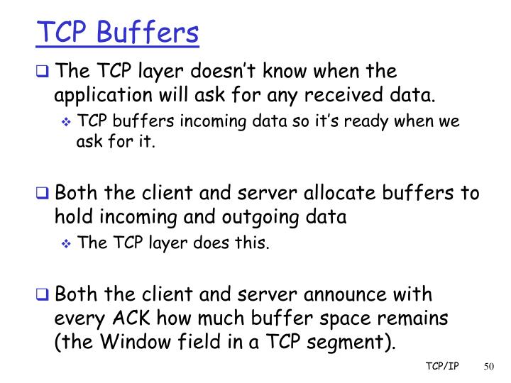 TCP Buffers