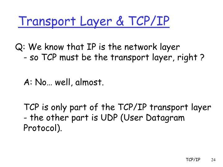 Transport Layer & TCP/IP