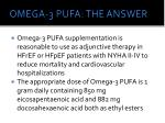 omega 3 pufa the answer