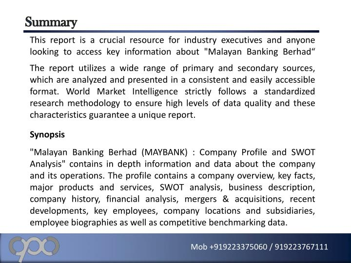 swot analysis for maybank A block diagram showing swot analysis of maybank you can edit this block diagram using creately diagramming tool and include in your report/presentation/website.