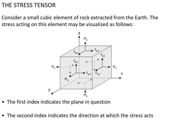 THE STRESS TENSOR
