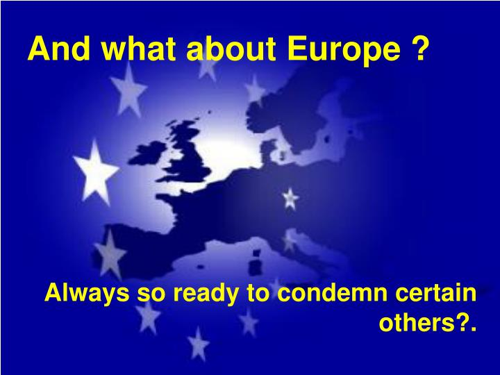 And what about Europe ?