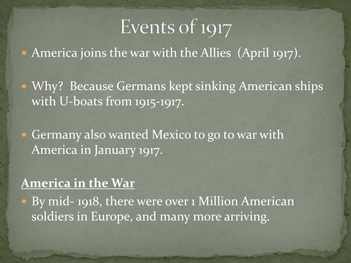 Events of 1917
