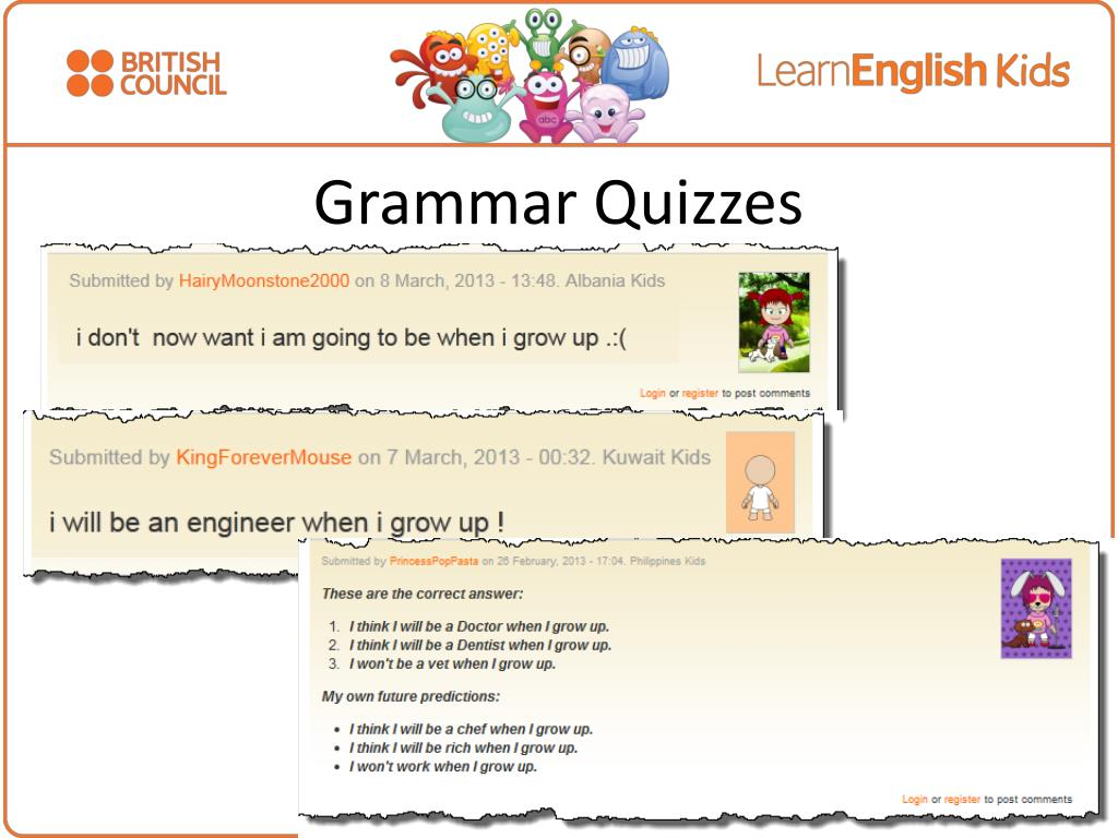 PPT - Learn English Kids Online grammar resources for Young