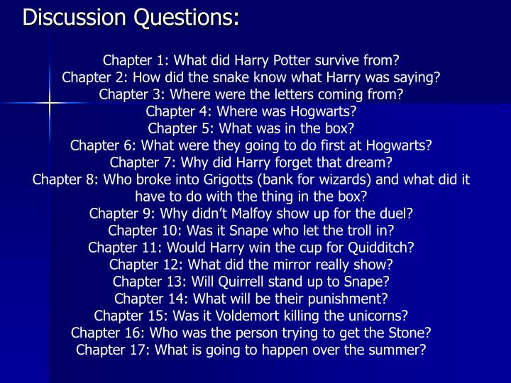 Chapter 1: What did Harry Potter survive from?