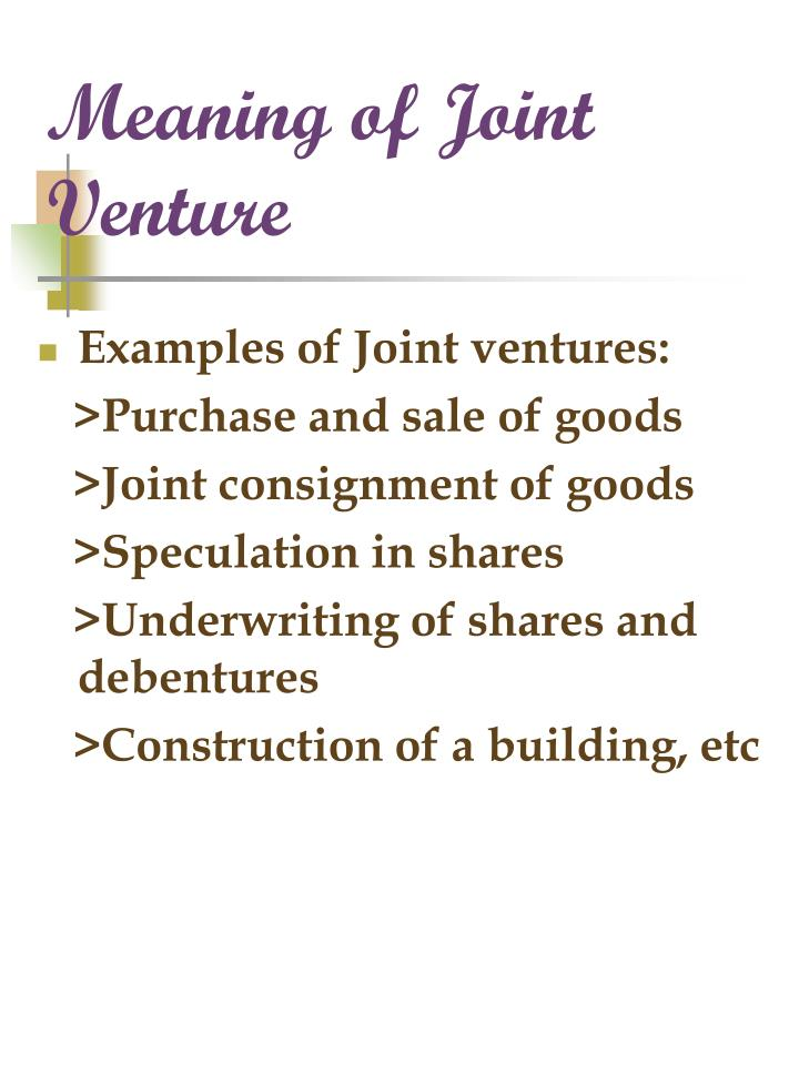 Ppt Accounting For Joint Ventures Powerpoint Presentation Id3203390