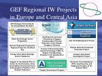 gef regional iw projects in europe and central asia