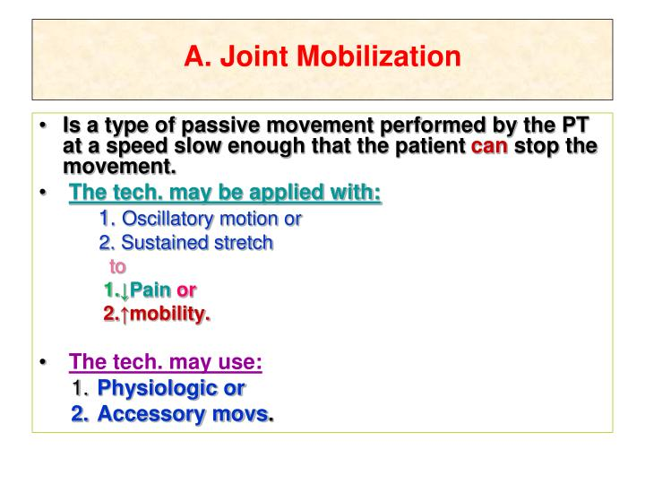 joint mobility definition