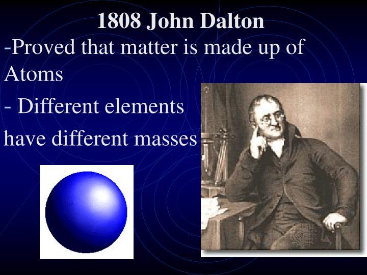 1808 John Dalton