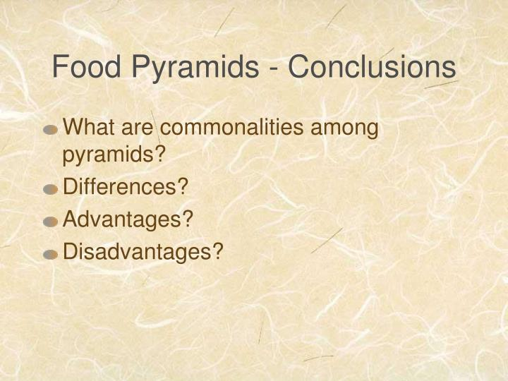 Food Pyramids - Conclusions