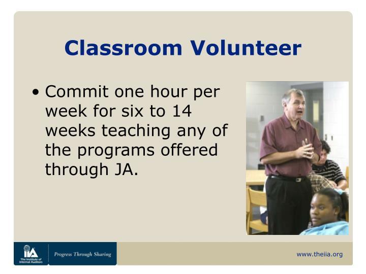 Classroom Volunteer