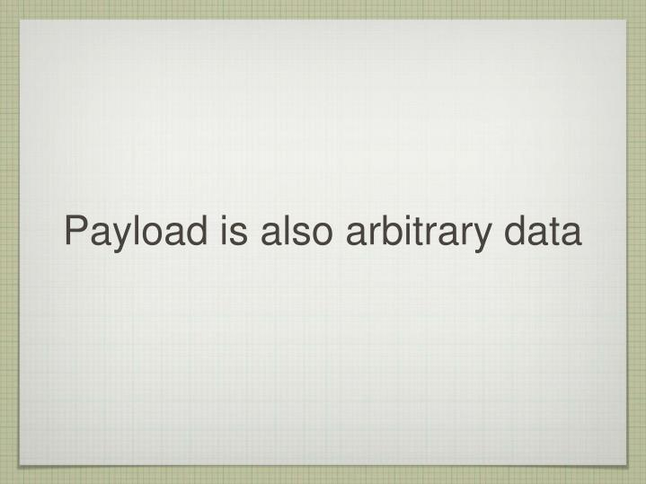Payload is also arbitrary data