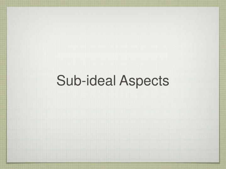 Sub-ideal Aspects