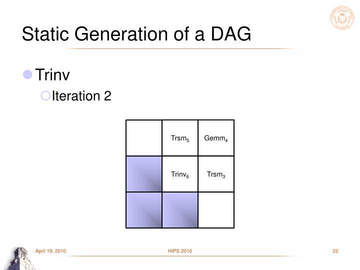 Static Generation of a DAG