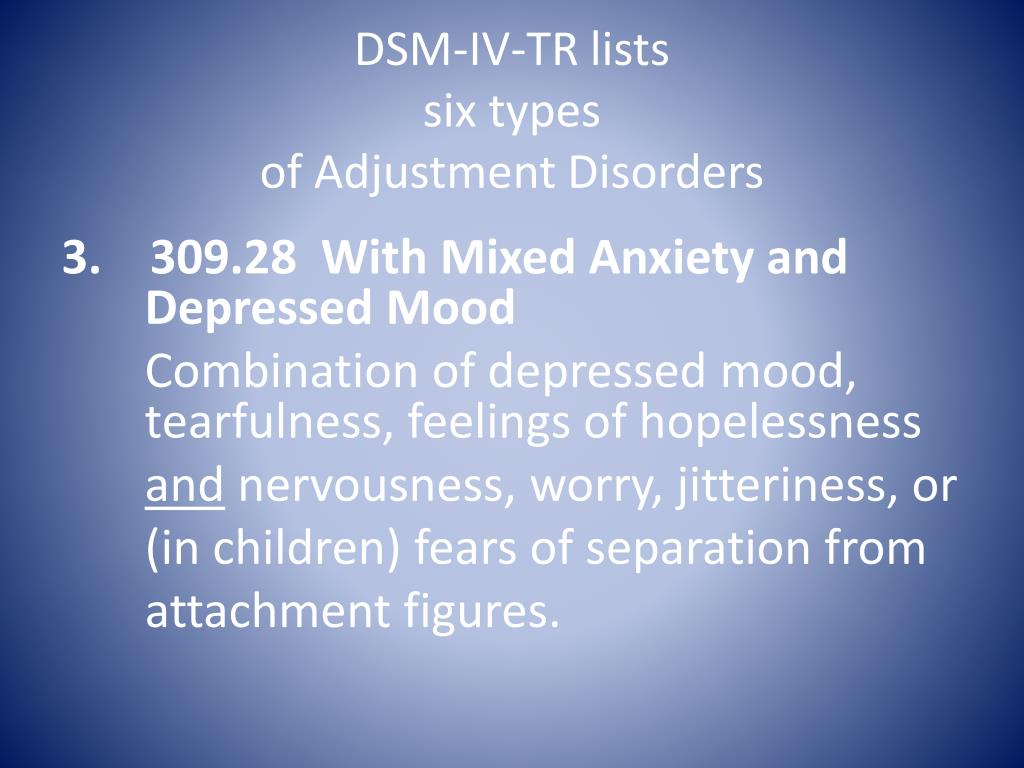 PPT - Adjustment Disorders PowerPoint Presentation, free ...