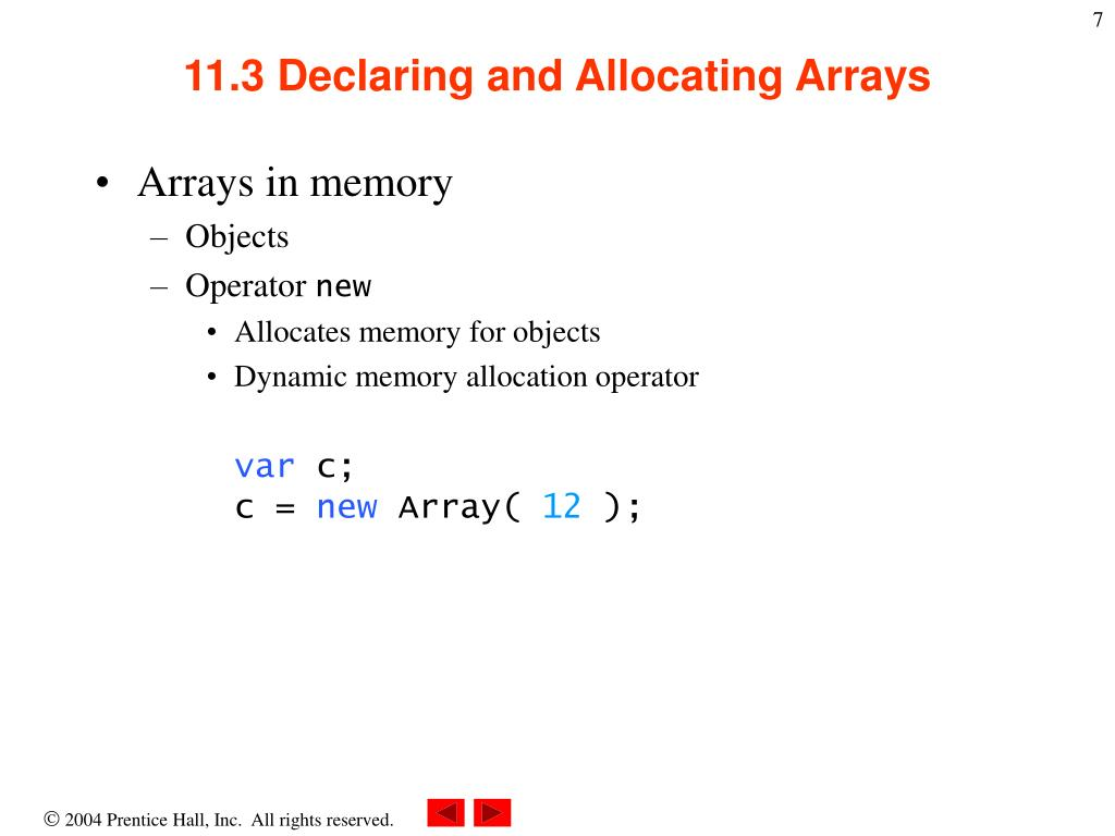 PPT - Chapter 11 - JavaScript: Arrays PowerPoint