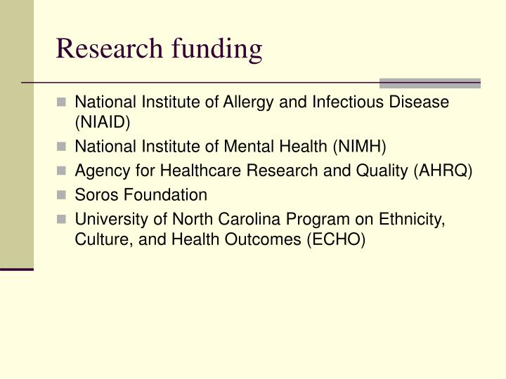Research funding