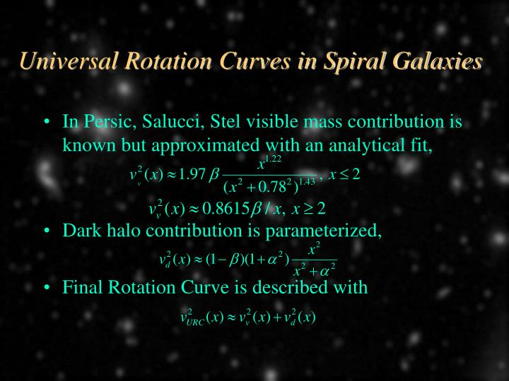 Universal Rotation Curves in Spiral Galaxies