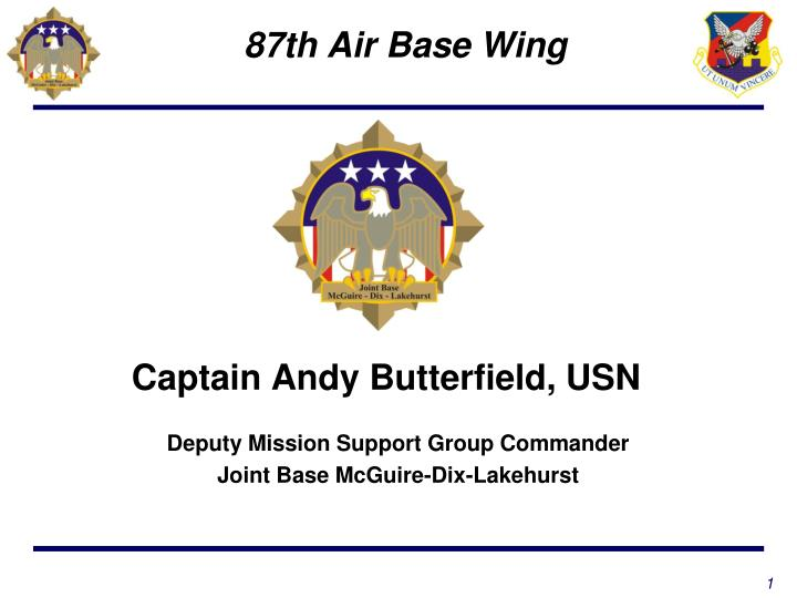 captain andy butterfield usn n.