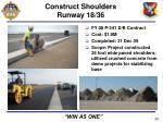 construct shoulders runway 18 36
