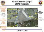 navy marine corps brac projects