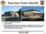 repair base theater bldg 2909