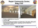 repair community center bldg 2705