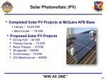 solar photovoltaic pv