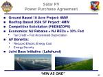 solar pv power purchase agreement