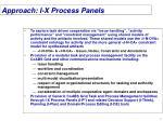 approach i x process panels