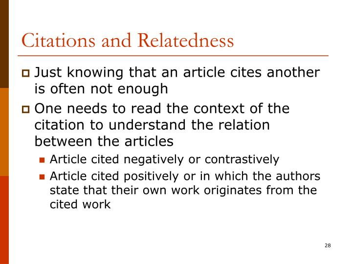 Citations and Relatedness