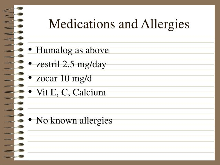 Medications and Allergies