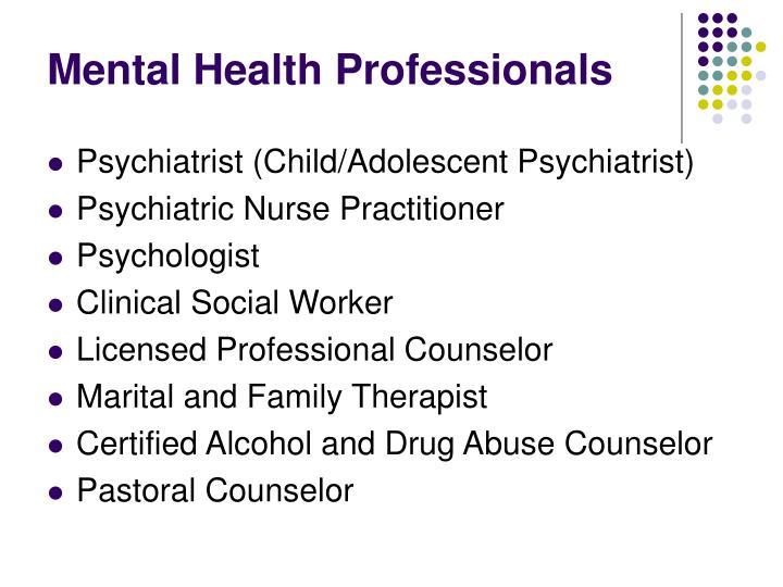 Mental Health Professionals