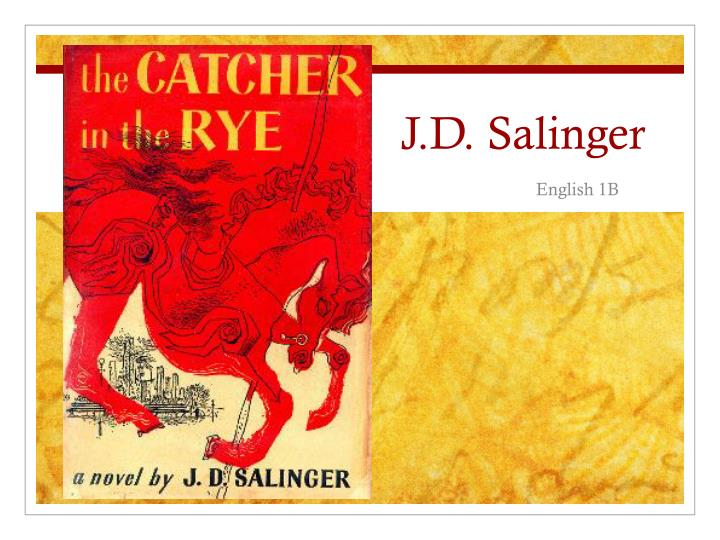 an analysis of the dreams in the catcher in the rye novel by j d salinger Actor and producer edward norton shares his memories of reading the catcher of rye as an adolescent, and his analysis of the character holden caulfield and the way author jd salinger uses.