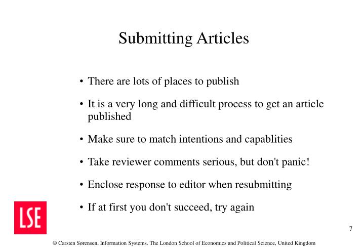 There are lots of places to publish